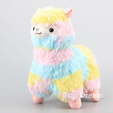 "13""  Cute Alpacasso Rainbow Alpaca Plush Toy Stuffed Animal Doll Corlorful Teddy"