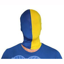 Morphsuits Blue & Yellow Team MorphMask Costume Mask One Size Fits Most Adults