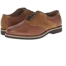 Bass Mens Burlington Leather Suede Saddle Oxford Dress Shoes Mocha/Mocha Sz 13 D
