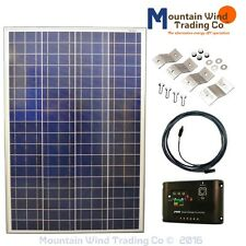 COMPLETE SOLAR KIT 100 Watt Photovoltaic PV 72 cell Panel 12 Volt Boat Off Grid