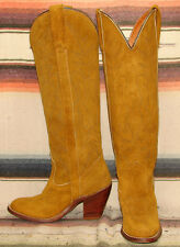 Womens Vintage Miss Capezio Brown Suede Leather Cowboy Boots 5 M Excellent Cond