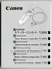 Canon TC-80N3 Instruction Book NEW. More GENUINE Camera Accessory Manuals Listed