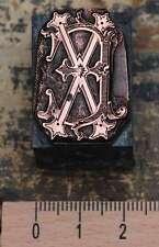 EX  XE  Monogramm Initial Druckstock Klischee Buchstabe Galvano Initiale Vintage