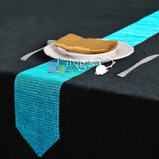 24 Rows Wedding Sparkly Diamond Bling Party Banquet Table Runner Decoration