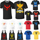 Pokemon Go Team Valor Mystic Instinct Pokeball T-Shirt Tops Summer Graphic Tee
