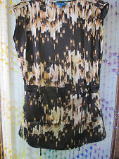 2 for 1 Super Cute Mini w/ blouse/topper by Derek Lam nwt XS browns,white n gold