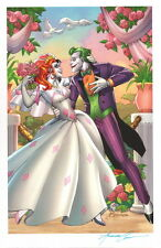 Amanda Conner SIGNED DC Comic Batman Art Print ~ Harley Quinn & The Joker