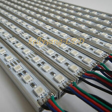 10PCS 0.5M 12V 5050 RGB 36 LED rigid Hard Light Bar Cabinet Strip with U Shell