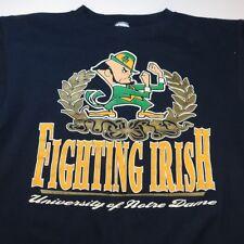 Vintage UNIVERSITY NOTRE DAME FIGHTING IRISH COLLEGE SWEATSHIRT Sz Mens XL