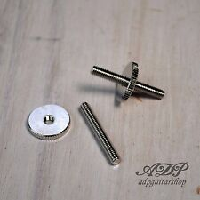 SUPPORT CHEVALET VINTAGE ABR1 TuneMatic Bridge Studs Wheels Nickel 4mm BP2393-01