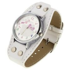 Reloj HELLO KITTY  watch blanco con remaches  A1109