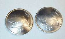 Irish Silver Bull/Harp coin cufflinks-nicely domed-handmade in the USA!
