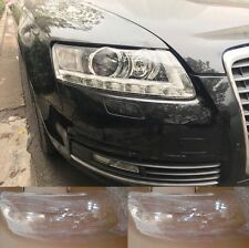 Audi A6 С6 2009-2011 Left and Right Kit Cover Lens for LED Headlights + Glue