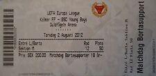 TICKET UEFA EL 2012/13 Kalmar FF - YB Bern