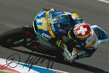 Dominique Aegerter Hand Signed Interwetten Kalex 12x8 Photo 2015 Moto2.