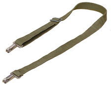 Swiss Army Shoulder Strap With Metal Clips sling olive strong webbing 100cm 20""