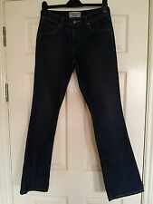 LADIES LEVI STRAUS JEANS 8 36 LONG BLUE DENIM TROUSERS STRETCH LOW RISE BOOT CUT