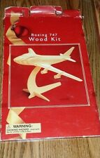 Boeing 747 Wood Plane Model Kit- NEW Package has Damage