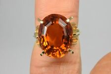 VTG Estate Antique 1920's to 1940's Mint Citrine Solitaire Ring 18k Gold Ring
