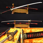 1095 Japanese Samurai Sword KATANA UNOKUBI-ZUKURI Blade Sharp Can Cut Tree