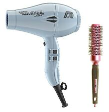Parlux Advance Light Ionic and Ceramic Hair Dryer Iced Silver + Free Brush