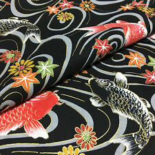 1/2YD Oriental Asian Japanese Style Cotton  fabric sewing - big fish