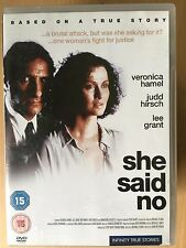 Veronica Hamel Judd Hirsch SHE SAID NO ~ 1990 True Life Rape Drama | UK DVD