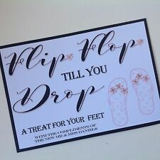 PERSONALISED Handmade DANCING SHOES - FLIP FLOPS Wedding Sign *Many Colours