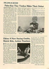 1968 PAPER AD 2 PG Article Tiny Tonka Trucks Dune Buggy Jeep Pick Up Bulldozer