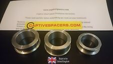 Suzuki GSXR 1000  2005 - 2008 Captive race wheel Spacers. Full set. UK made.