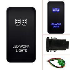 12V Push Switch Blue LED Work Light For Toyota Land Cruiser 75 76 78 79 Series