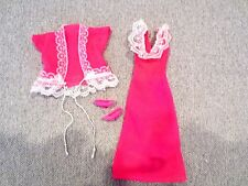 Barbie Clothes  Lingerie Hot Pink Nightgown Shortie Robe Shoes  Pajamas  Lot R29