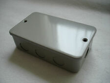 METAL CLAD 2 GANG BOX  WITH LID BLANKING OFF BOX C/W KNOCKOUTS. END BOX