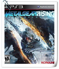 PS3 METAL GEAR RISING: REVENGEANCE Sony PlayStation Action Adventure Konami