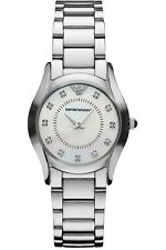 NEW EMPORIO ARMANI AR3168 LADIES DIAMOND WATCH - 2 YEAR WARRANTY