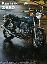 KAWASAKI Z650 Z650B2 KZ650 KZ650B2 RESTORATION DECAL SET 1978