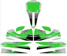 Custom m4 full Kart autocollant Kit-vert-Karting