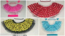 LADIES POLKA DOT ROCK AND ROLL 50s SKIRT FANCY DRESS COSTUME HEN PARTY BEADS