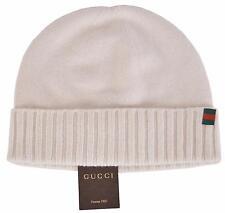 New Gucci Men's 284587 Maglia 100% Cashmere Web Stripe Knit Beanie Hat S