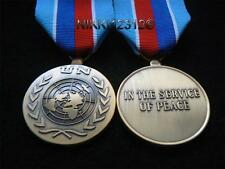 FULL SIZE UNITED NATIONS HAITI UN MEDAL WITH RIBBON UNMIH & UNSMIH