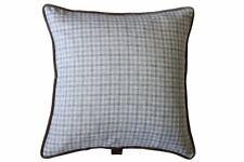 Beige & Grey Check / Beige Velvet Beige velvet piping, 53x53