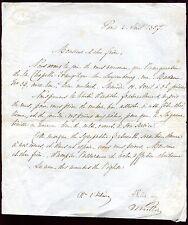 lettre autographe Jules Barthélémy Saint-Hilaire.Philosophe. journaliste.Politiq