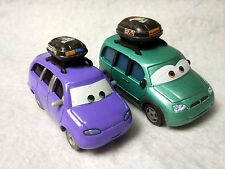 Disney Pixar Cars VAN & MINI w/ Luggage Carrier Route 66 On the Road 1/55 1