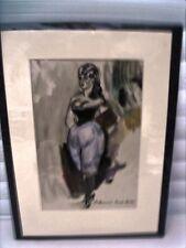 """BERTHOMME ST-ANDRE Louis (1905-1977) """"Le panty et le corset noir"""" Aquarelle"""