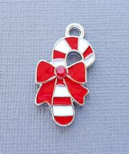 5pcs Christmas Candy Enamel Pendants Charms Dangle  DIY Jewelry findings c189