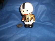 """Vintage 60's or Early 70's MY Made in Korea 5 1/2"""" Ceramic Football Player Bank"""