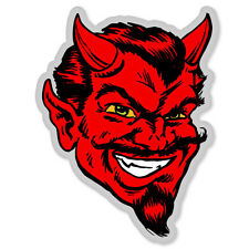 "Red Devil Satan car bumper sticker window decal 5"" x 4"""