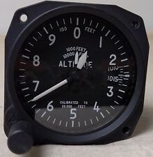 Remanufactured Sensitive Three Pointer Altimeter 20,000 FT, Millibars