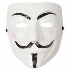 UNISEX V FOR VENDETTA FACE MASK ANONYMOUS GUY FAWKES HALLOWEEN FANCY DRESS FUN