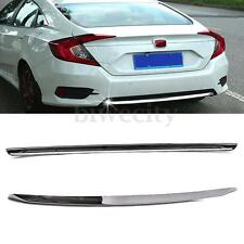 Chrome Lower Rear Bumper Moulding Cover Trim Decor for Honda Civic 2016-2017